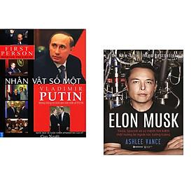 Combo 2 cuốn sách: Putin - Nhân Vật Số 1 + Elon Musk (Bìa Cứng)