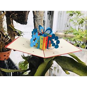 Thiệp 3d Thanh Toàn - Món quà sinh nhật và bóng bay - NCN08