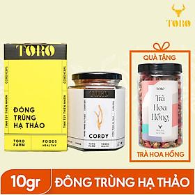 Đông Trùng Hạ Thảo TORO - Sấy thăng hoa nguyên sợi - 10g + Tặng 1 hũ trà hoa tự chọn