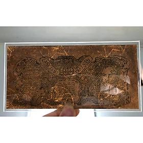 Tiền cổ Việt Nam giấy rơm cụ Hồ mệnh giá 100 đồng phát hành trong giai đoạn đầu độc lập, bóng chìm đặc trưng rất đẹp