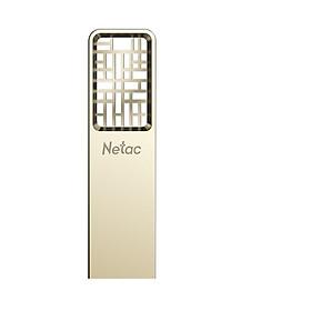 Netac 64G USB3.0 U disk U327 full metal high speed mini hollow design flash drive creative Chinese style Jane nickel