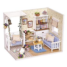 Nhà búp bê Ngôi nhà thu nhỏ lắp ghép Kitten Diary