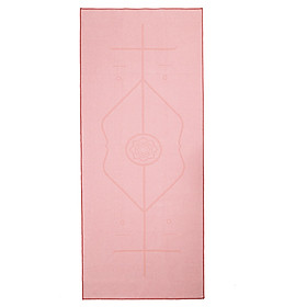 Yoga Mat Non-Slip Towel Fitness Mat Yoga Blanket Cushion Towel Yoga Towel with Position Line with Carrying Bag
