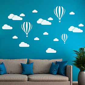Tailored DIY Large Clouds Balloon Wall Decals Children's Room Home Decoration Art