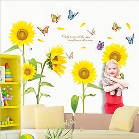 Decal dán tường hoa mặt trời đón năng XL8011 Flowerdecal