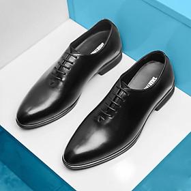 Giày Tây Nam Da Bò - Giày Buộc Dây Chất Liệu Da Bò 100% - DYSEVEN - Vô Cùng Lịch Lãm Trẻ Trung Sang Trọng