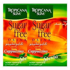 Combo 2 Hộp Cà Phê Ăn Kiêng Tropicana Slim Sugar Free Vanilla Cappucino (8 x 12g)