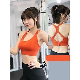 Áo tập Gym, Yoga, Thể Thao Nữ Croptop Bra Sẵn Lót Ngực A01