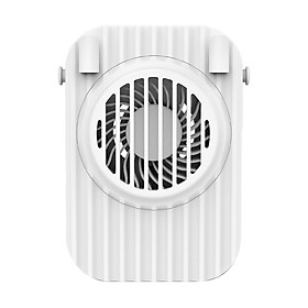 D C5V 3W Mini Neck Fan 3 Adjustable Wind Speed Built-in 1200mAh High Capacity Rechargeable Batter-y Portable for Sport