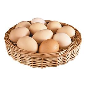 [Chỉ Giao HCM] - Trứng gà ta hữu cơ Organicfood vỉ 10 quả