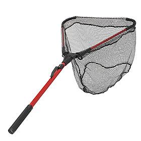 Folding Handle Fishing Landing Net Aluminum Extending Pole Ultra-Light 16'' Wide