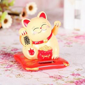 Mèo thần tài năng lượng mặt trời MTT01
