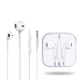 Universal Headset Earphone With Mic Volume Adjustable Earphones For Mobile Phone white CN