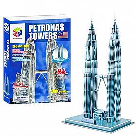 Mô Hình Giấy 3D Magic Puzzle : Tháp Đôi Petronas G168-1 (130 Chi Tiết)