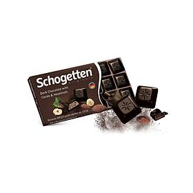 Sôcôla Thanh 13 Vị Schogetten - Đắng nhân Cacao & Hạt phỉ - 100g