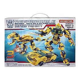 Bộ lắp ráp Robot biến hình Transformers Bumblebee 3in1 Lele Brother (8557-3)