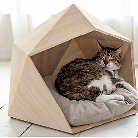Nhà Gỗ Khối Đa Giác Ngộ Nghĩnh Cho Chó Mèo DH004
