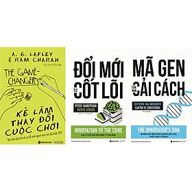 Combo Bài Học Về Cách Tân Trong Quản Trị Doanh Nghiệp Để Chiến Thắng Trong Mọi Cuộc Chơi ( Kẻ Làm Thay Đổi Cuộc Chơi + Đổi Mới Từ Cốt Lõi + Mã Gen Của Nhà Cải Cách ) tặng kèm bookmark Sáng Tạo