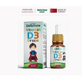 Vitamin D3 Nhỏ Giọt Nhập Khẩu Châu Âu Turkey Bổ sung Vitamin D3 phát triển chiều cao, chống còi xương, biếng ăn, khóc đêm, chậm phát triển chiều cao, tăng chiều cao khoẻ xương cho trẻ sơ sinh và trẻ nhỏ