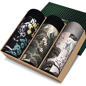 Seven wolves underwear men's underwear cotton ammonia fashion comfortable Mingjiao boxer briefs light luxury gift box 3 loaded 97788 Qingya printing models L