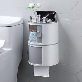 Combo 2 hộp đựng giấy dán tường nhà tắm - Mầu ngẫu nhiên