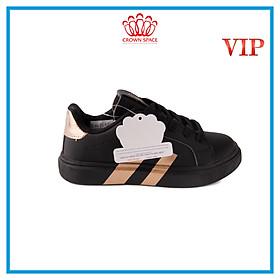 Giày Sneaker Bé Trai Bé Gái Cổ Thấp CrownUK Active Trẻ em Cao Cấp CRUK215 Nhẹ Êm Size 28-36/2-14 Tuổi Màu Trắng Đen Hồng