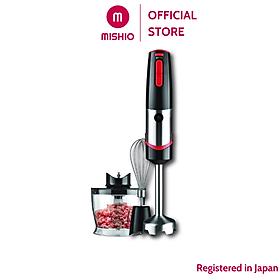 Bộ máy xay cầm tay Mishio MK185 kèm phụ kiện cối xay và đầu đánh trứng - Hàng chính hãng