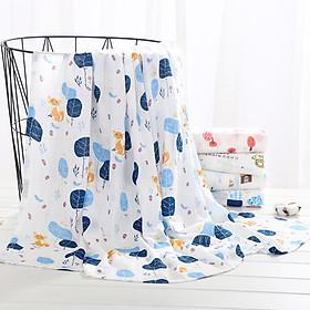Khăn Tắm Em Bé, Khăn Tắm Loại Tốt 100% Cotton Mềm Mịn Thấm Hút Tốt - Họa Tiết Bé Trai