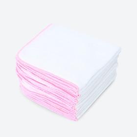 Khăn Sữa  3 Lớp Coton Cao Cấp 25cm x 30cm - Set 20 Khăn