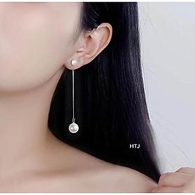 Bông tai bạc mix ngọc trai CỰC ĐẸP khuyên tai nữ dánh dài thể hiện cá tính của bạn