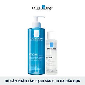Bộ sản phẩm làm sạch sâu cho da dầu mụn La Roche-Posay Effaclar