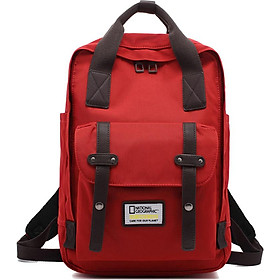 National Geographic National Geographic Backpack Women Fashion Large Capacity Backpack Male 15.6-inch Laptop Bag Travel Waterproof Student Couples Bag Red Brown