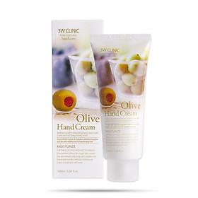 Kem dưỡng da tay Olive Hàn Quốc cao cấp 3W Clinic Olive Hand Cream (100ml) – Tặng 1 mặt nạ Jant Blanc