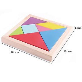 Đồ chơi ghép trí uẩn tangram size lớn cho bé