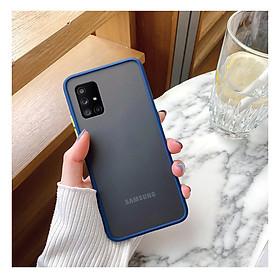 Ốp lưng trong nhám viền màu chống sốc cho SamSung Galaxy A71
