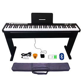 Bộ Đàn Piano Điện Bora BX-II - 88 Phím nặng Cảm ứng lực BX-02 - Midi Keyboard Controllers BX2 - Kèm Chân Gỗ, Giá Để Bản Nhạc, Móng Gẩy DreamMaker (Kết nối máy tính và điện thoại, Bluetooth, Pin sạc, Loa lớn)