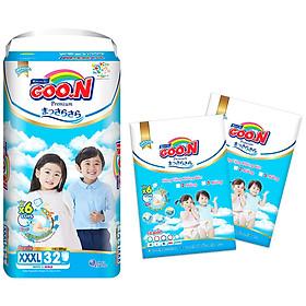 Tã quần Goon Premium cao cấp gói siêu đại XXXL32 (18kg ~ 30kg) + Tặng thêm 10 miếng cùng size