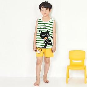 Đồ bộ cho bé trai Unifriend Hàn Quốc UniN06 cho bé 1-10 tuổi. Bộ mặc nhà trẻ em. Vải cotton organic Korea. Hàng chính hãng