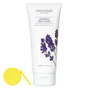Kem Dưỡng Thể Organique Lavender Body Cream (200ml) - Tặng Kèm Mút Rửa Mặt