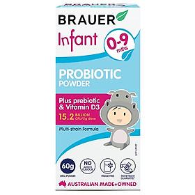 2 hộp Men vi sinh Brauer Úc cho trẻ 0-9 tháng tuổi 60g– Brauer Natural Medicine Infant Probiotic Power 60g