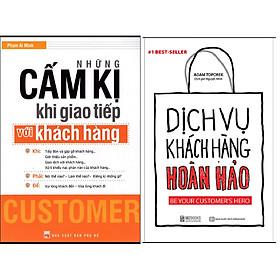 Combo Dịch Vụ Chăm Sóc Khách Hàng Hoàn Hảo+Những Cấm Kị Khi Giao Tiếp Với Khách Hàng.Minhhabooks
