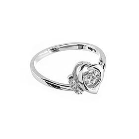 Nhẫn vàng trắng nữ cao cấp DOJI 14K 0819R-NAL620