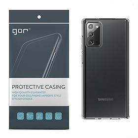 Ốp Lưng Silicon TPU trong suốt GOR cho Samsung Galaxy Note 20 / Note 20 Ultra - Hàng Nhập Khẩu