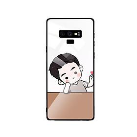 Hình đại diện sản phẩm Ốp Lưng Kính Cường Lực cho điện thoại Samsung Galaxy Note 9 - Couple Boy 03