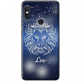 Ốp lưng dành cho Xiaomi Redmi Note 6 Pro mẫu Cung hoàng đạo Leo (xanh)