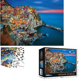 Bộ Tranh Ghép Xếp Hình 1000 Pcs Jigsaw Puzzle (Tranh ghép 70*50cm) Cinque Terre Ý Bản Thú Vị Cao Cấp