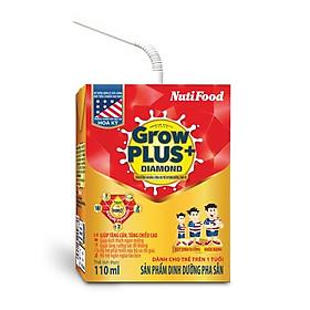Thùng Sữa Bột Pha Sẵn NUTI GROWPLUS+ DIAMOND 110ml - Dành cho trẻ từ 1 tuổi trở lên (48 Hộp x 110ml)