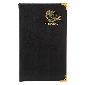 Sổ Ck T-Legend Bìa Da 168 Trang TIE (12.5 x 20.5 cm) - Đen