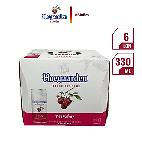 Lốc 6 lon bia Hoegaarden Rosee (330ml/lon)