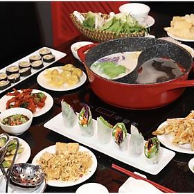 Com bo Lẩu Hongkong CHAY - nước súp lẩu Cà Chua Khoai Tây
